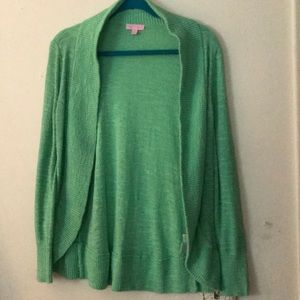 Lilly Pulitzer green cardigan